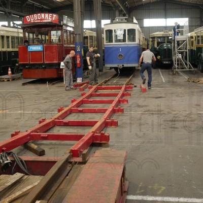 Chelles, 18.08.2014 - La rampe est assemblée comme un mécano