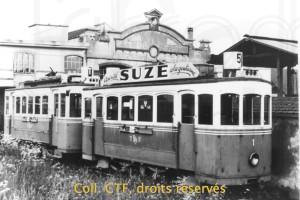 1965 - Les trams 1 et 7 à Bulle