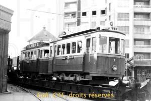 1965 - Les trams 1 et 7 sont emmenés vers Bulle
