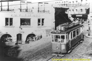 Années 1960 - Au bas de la rue de Lausanne (Coll. CTF, DR)