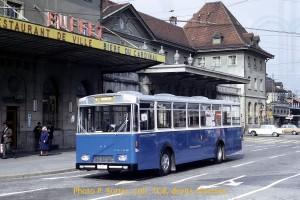 16.10.1971 - autobus 54 flambant neuf en course d'essai (Photo P. Sutter, coll. TCB, DR)