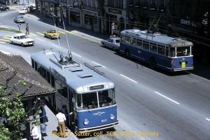 03.06.1972 - Rencontre des Saurer 33 et 40 au Tilleul (photo P. Sutter, collection TCB)