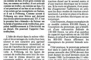 """18.03.1988 """"L'autrolleybus"""" vu par la Liberté (DR)"""