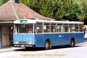 En 1990, la 63 à l'arrêt du Tilleul (photo C. Eugster, DR)