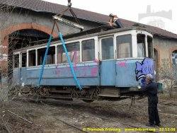 20.12.2008 - Oullins (F), récupération du tram 9 (Photo E. Baeriswyl, Coll. CTF)