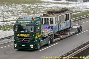 23.12.2008 - Arrivée de la 9 à Fribourg (coll. CTF)
