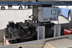 """Remorque génératrice """"CTF"""" pour la marche autonome du trolleybus 34."""