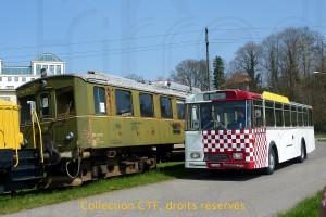 17.04.2010 - La 63 à Kalnach à côté de la 155 ex-GFM (Photo TP)