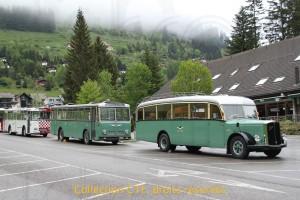 24.05.2014 - 3 bus historique à Moléson-Village (photo C. Eugster)