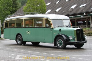 24.05.2014 - Autobus TPF 307 (Saurer CT2D de 1953) Photo C.Eugster