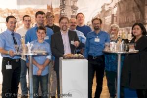 16.10.2015 - Les membres présents fêtent les 25 ans du CTF