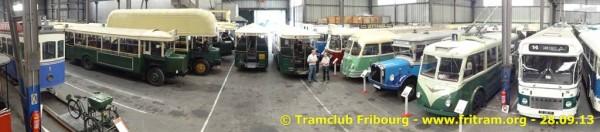 Chelles, 28.09.2013 - Le tram 1 et une partie de la collection AMTUIR