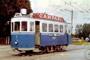 Le tram 1 dans les années 1960