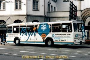 Février 1995 - Première publicité intégrale à Fribourg (photo T. Portmann, DR)
