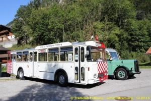 12.09.2015 - La 63 avec le bus GFM 307 en location (photo Ch. Eugster)