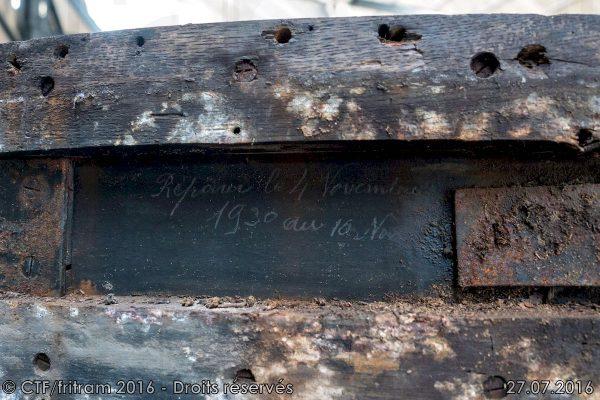 """""""Réparé le 4 novembre 1930..."""""""