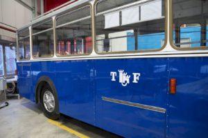 "L'autobus 63 retrouve sa robe bleue ""TF"" !"